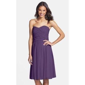 Donna Morgan Anne Strapless Chiffon Dress- flawed
